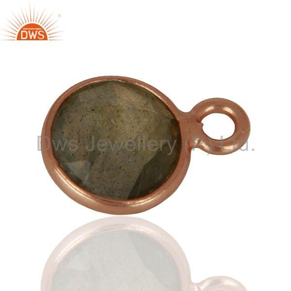 Exporter Rose Gold Plated Silver Pendant Connector Gemstone Jewelry Findings