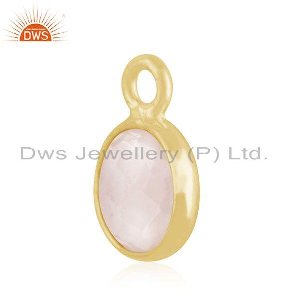 Exporter Gold Plated 925 Silver Crystal Quartz Charm Findings Manufacturer from India