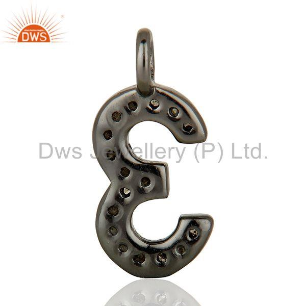 Exporter Wholesale Pave Diamond 925 Silver Jewelry Finding Pendant Supplier