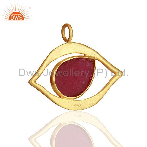 Exporter Ruby Gemstone 925 Silver Gold Plated Customized Findings Manufacturer