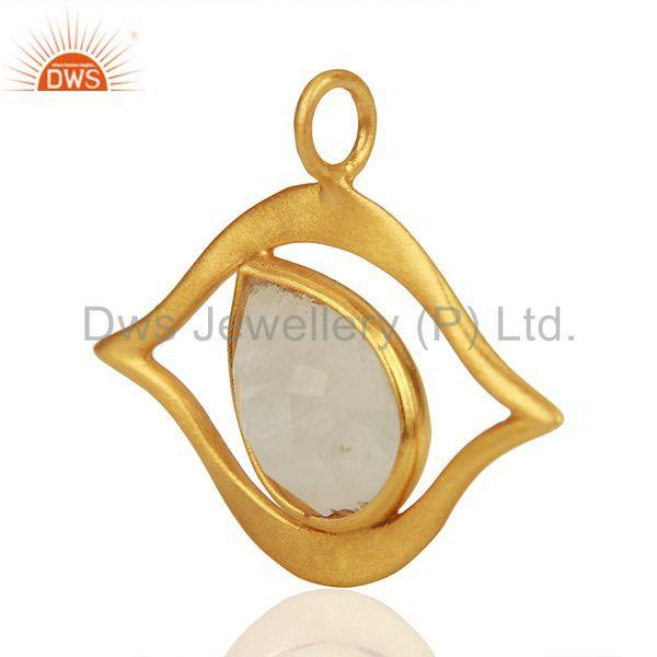 Exporter Customized 925 Silver Gold Plated Moonstone Findings Manufacturer