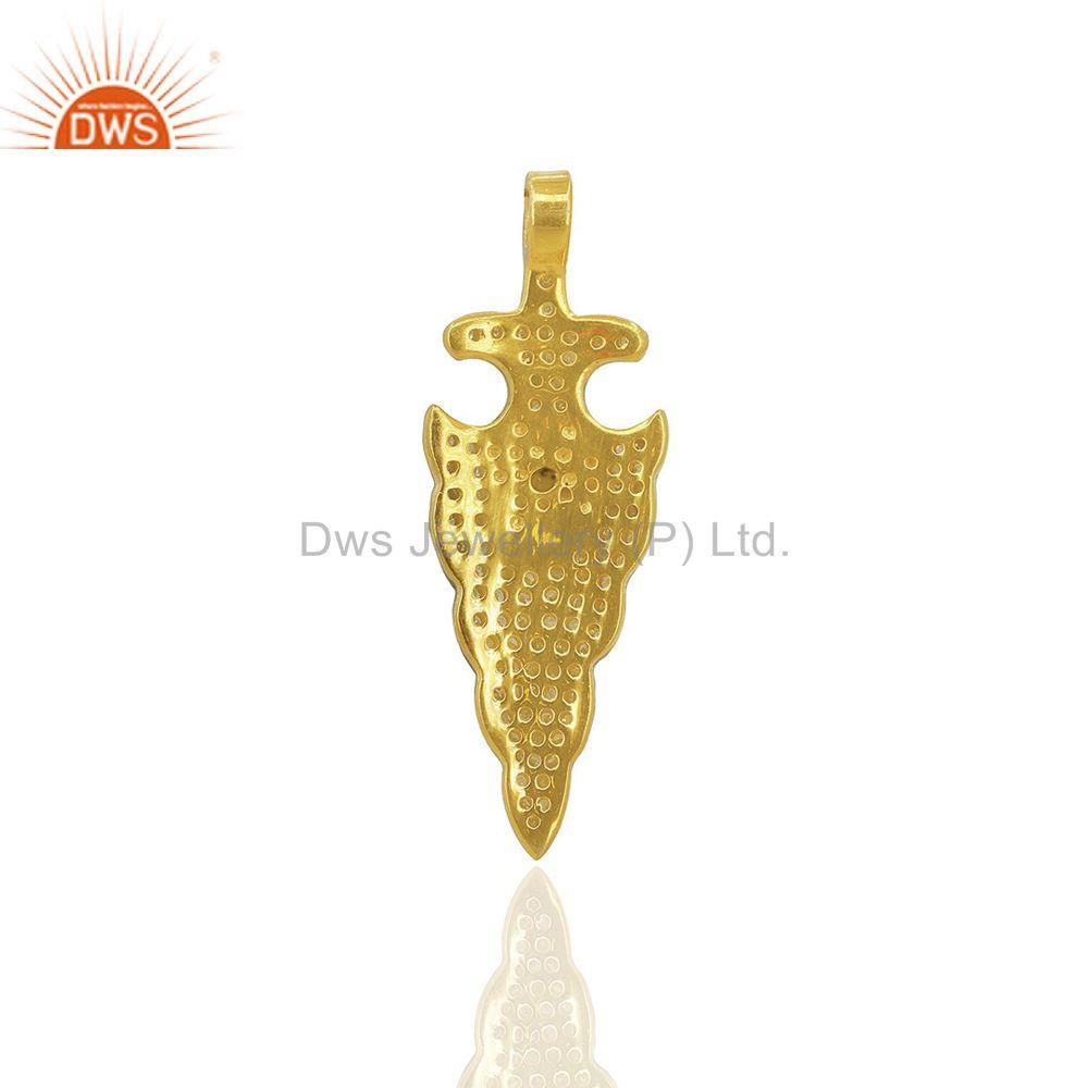 Exporter Pave Diamond ARROW HEAD 92.5 Sterling Silver Charm Pendant Jewelry