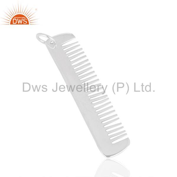 Exporter Hair Dresser 925 Sterling Silver Hair Comb Charms Pendant Jewelry