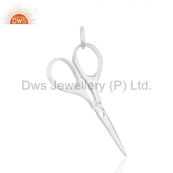Exporter Scissor Hairdresser 925 Sterling Silver Pendant Charm Necklace Jewelry