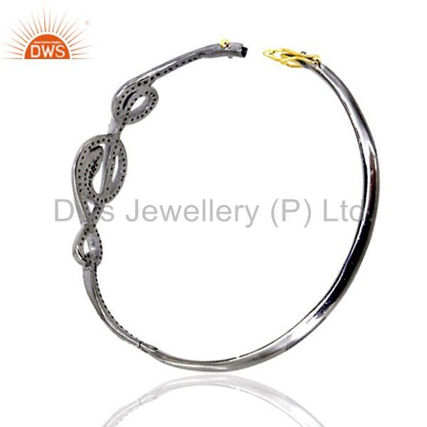 Supplier of 925 silver diamond pave snake sapphire bangle 14 k gold halloween