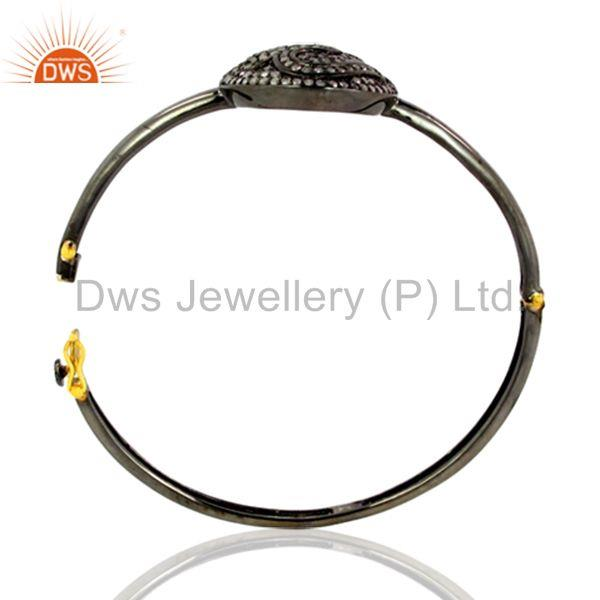 Supplier of Pave diamond om bangle 925 silver vintage inspired latest jewelry