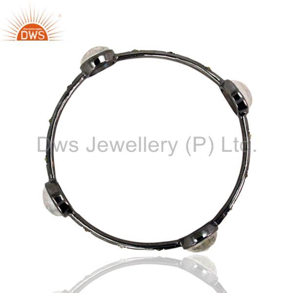 Supplier of Diamond bangle 925 silver amazing vintage style moonstone jewelry