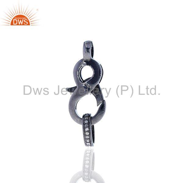 Exporter Pave Diamond 925 Silver Lobster Clasp & Spring Lock Finding Jewelry Component
