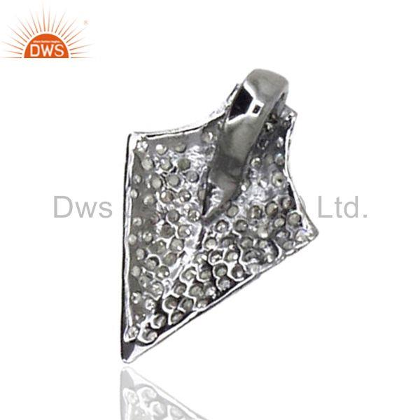 .925 sterling silver diamond pave arrow head charm pendant vintage style jewelry