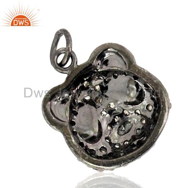 Exporter Ruby 925 Silver Sterling Diamond Pendant Vintage Look Art Fashion Jewelry New