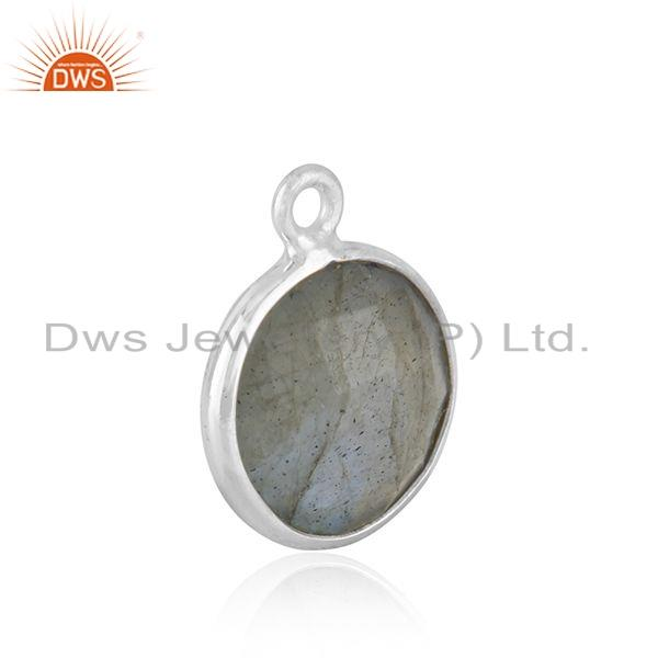 Labradorite gemstone finding silver earring pendant connector jewelry