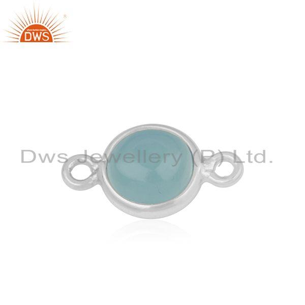 Exporter Chalcedony Fine Sterling Silver Gemstone Connectors Wholesale