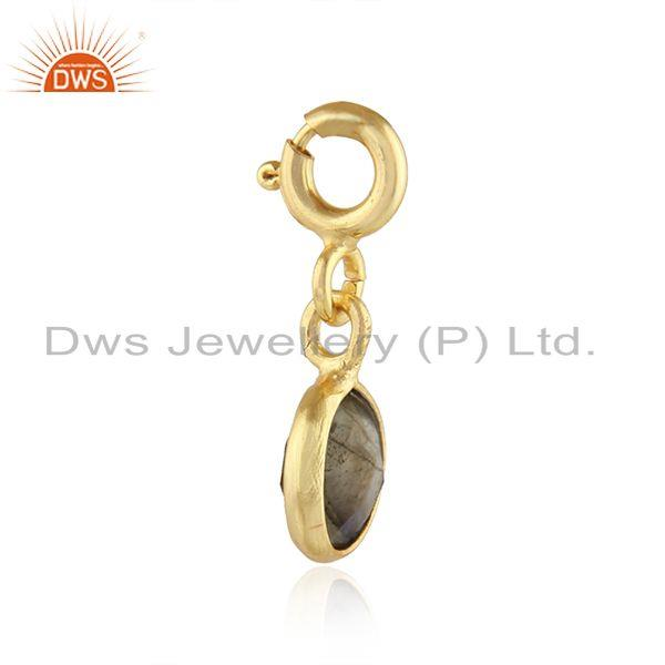 Exporter Labradorite Gemstone Gold Plated Silver Pendant Finding Jewelry