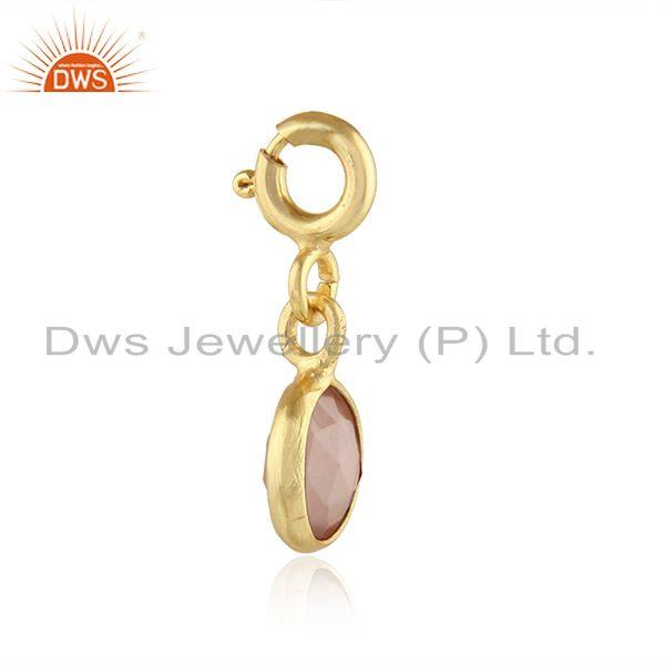 Exporter Rose Chalcedony Gemstone Handmade Silver Gold Plated Findings