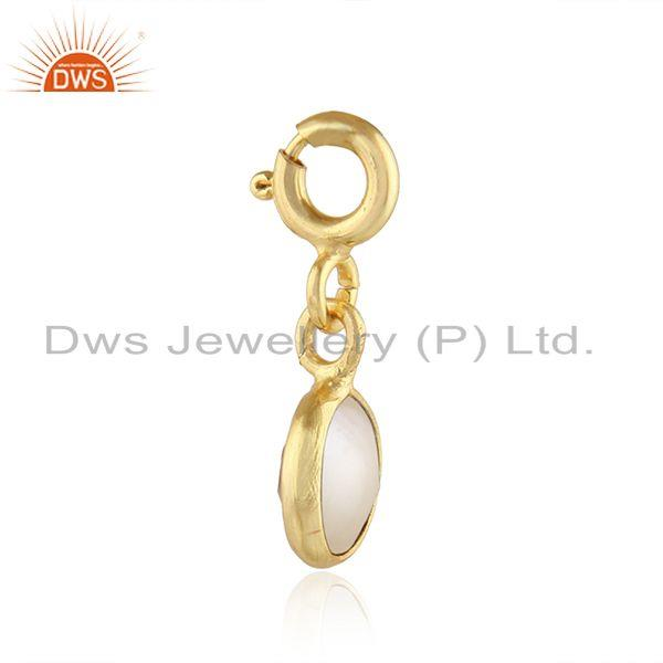 Exporter Natural Pearl Gold Plated Designer Silver Charm Pendant Jewelry