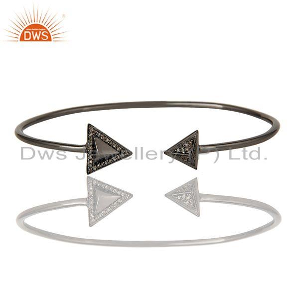 Exporter 925 Sterling silver PAve diamond Gemstone bangle bracelet  Jewelry