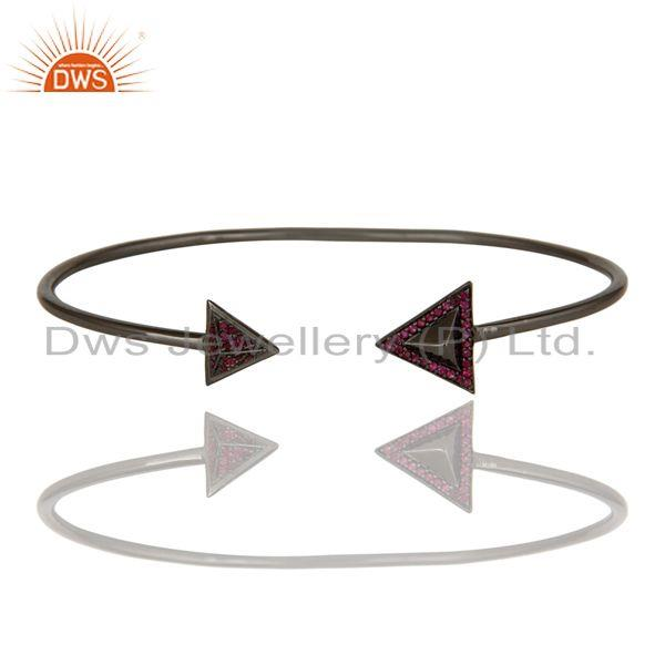 Exporter 925 Sterling silver Natural Ruby Gemstone bangle bracelet  Jewelry