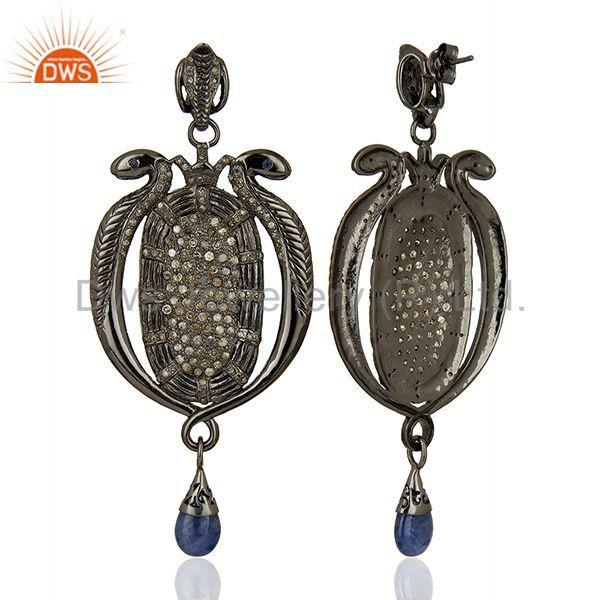 Exporter Indian Wedding Designer Pave Diamond Earrings Manufacturer Jewelry