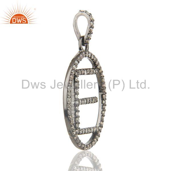 Exporter E Initial Customized Pave Diamond Pendant Jewelry Manufacturer