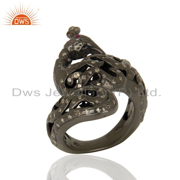 Exporter Handmade Pave Diamond Engagement Antique Ring Supplier Manufacturer