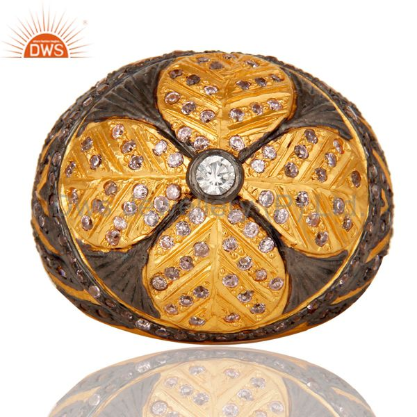Exporter Lovely Traditional Designer with 18k Gold Plated and Multi Color Zircon