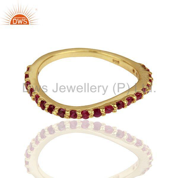 Exporter Natural Ruby Gemstone Solid Silver Birthstone Rings Manufacturer