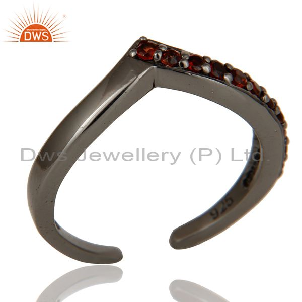 Exporter 925 Sterling Silver Handmade Natural Garnet Midi Ring Anniversary Ring Jewelry