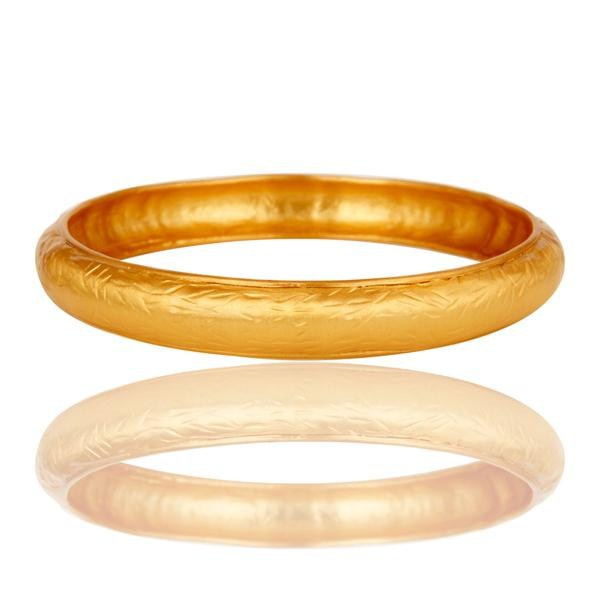 Supplier of 18k gold plated traditional handmade design brass bangle jewellery