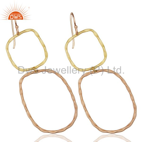 Exporter 14k Multi Gold Plated Traditional Handmade Dangle Fashion Jewelry Earrings