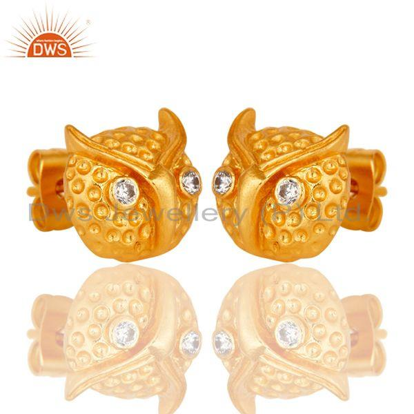 Exporter Customized Design Gold Plated Fashion Brass Stud Earrings Manufacturer
