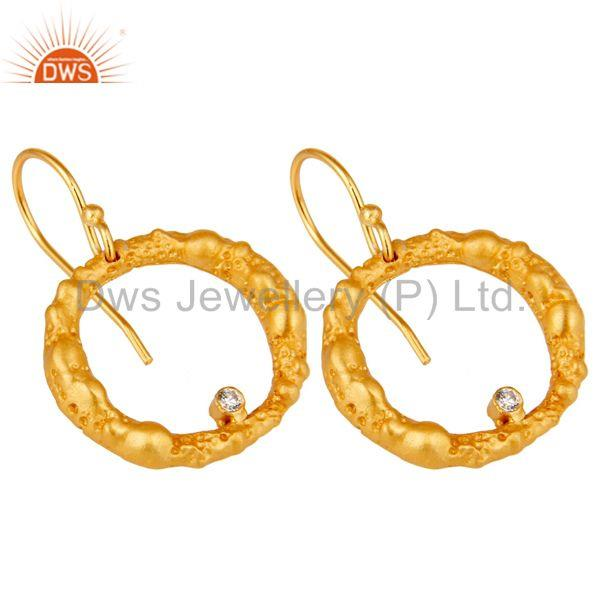 Exporter Lava Designer Gold Plated Simple Hoop Earring