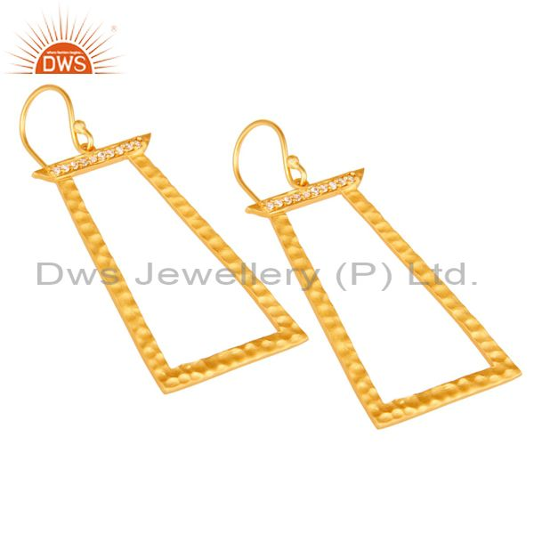 Exporter Handmade Brass Gold Plated Fashion Cz Earrings Jewelry Suppliers