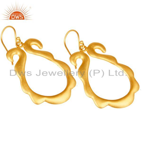 Exporter Traditional Handmade Brass Earrings with 18k Gold Plated