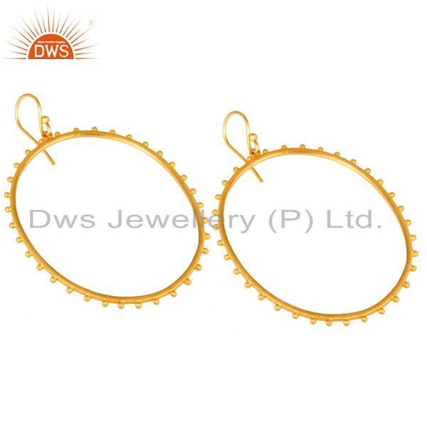 Exporter Indian Handmade Gold Plated Brass Fashion Dangle Earrings Manufacturer