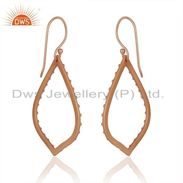 Exporter Rose Gold Plated Brass Fashion Handmade Earrings Manufacturers