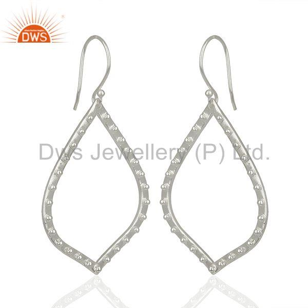 Exporter Silver Plated Brass Handmade Dangle Earrings Jewelry Manufacturer