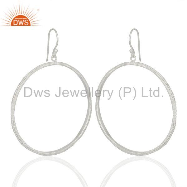 Exporter Round Brass Silver Plated Handmade Earrings Jewelry Manufacturers