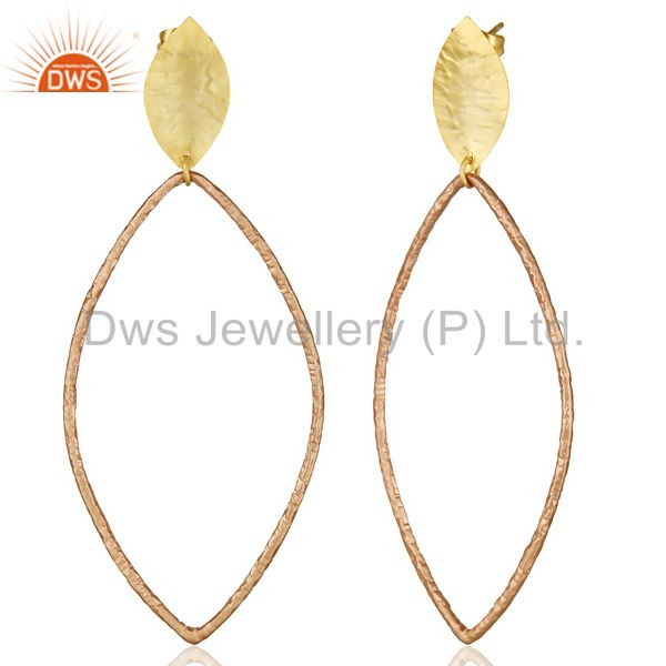 Exporter 14K Multi Gold Plated Traditional Handmade Fashion Dangle Gift Jewelry Earrings