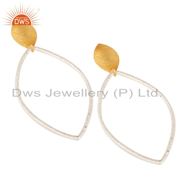 Exporter Traditional Handmade Brass Drops Earrings Made In 14K Gold & Silver Plated
