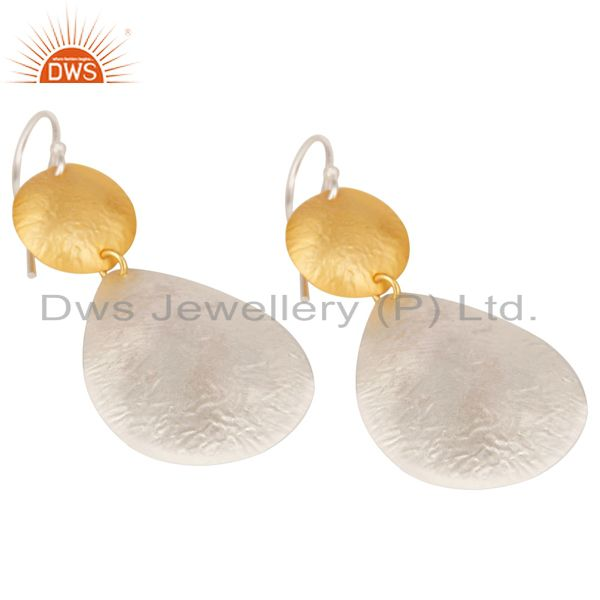Exporter Handmade New Design Brass Drops Earrings Made In 14K Gold & Silver Plated