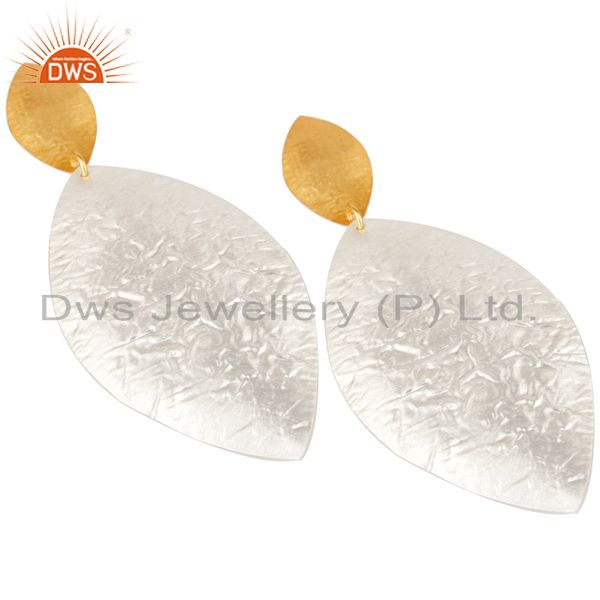 Exporter Beautiful Handmade Brass Drops Earrings Made In 14K Gold & Silver Plated