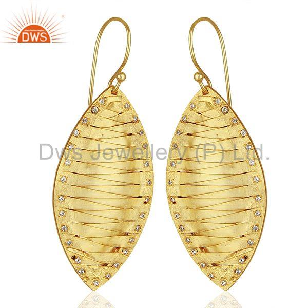 Exporter Hancrafted Brass Gold Plated Dangle Fashion Earrings Manufacturers