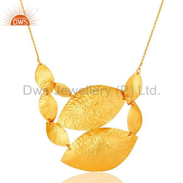 Exporter Handcrafted Brass Gold Plated Ethnic Women Necklace Jewelry Wholesale