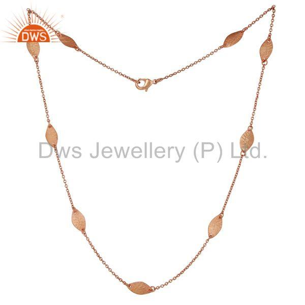 Exporter 18k Rose Gold Plated Handmade Brass Necklace Jewellery With High Quality