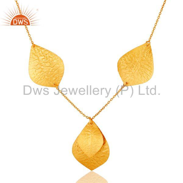 Exporter Handmade Gold Plated Brass Fashion Indian Design Necklace Manufacturer