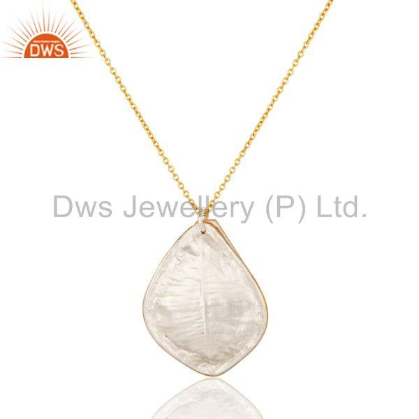Exporter Traditional Handmade 18K Yellow Gold Plated Simple Setting Brass Chain Pendant