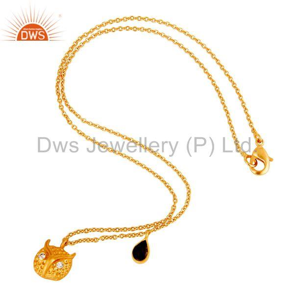 Exporter Customized Owl Design Gold Plated Brass Fashion Chain Pendant Supplier