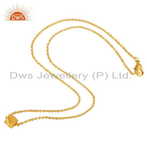 Exporter Traditional Handmade 22K Gold Plated Little Art Fashion Brass Chain Pendant