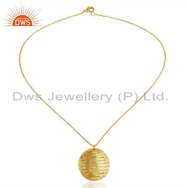 Exporter Handmade Brass Gold Plated Fashion Pendant Jewelry Manufacturers