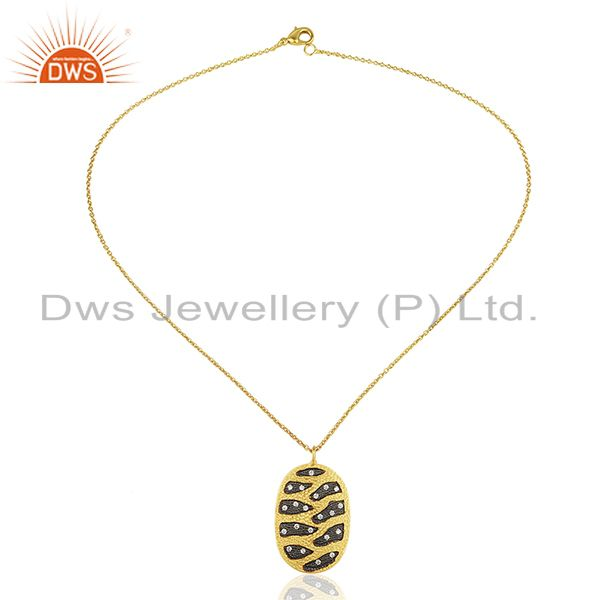 Exporter Handcrafted Brass Gold Plated Fashion Chain Pendant Wholesale
